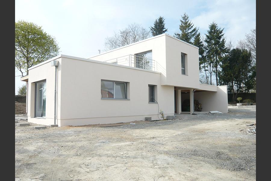 PARTICULIER A CHATEAU GONTIER - ISOLATION EN POLYSTYRENE