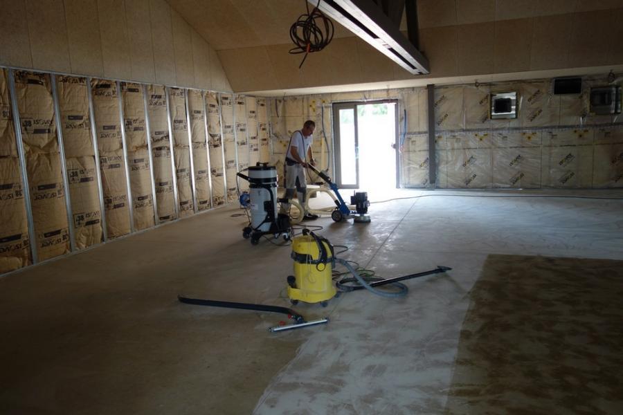 Preparations techniques de sols betons